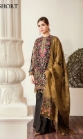 Embroidered Front  Embroidered Side Panel Embroidered Sleeves Embroidered Back Embroidered Sleeves Patch Embroidered Neckline Patch Embroidered Front Patch Embroidered Back Patch Jamavaar Dupatta Trousers