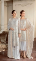 Embroidered Front  Embroidered Side Panel Embroidered Sleeves Plain Back Embroidered Sleeves Patch Embroidered Front Patch Embroidered Back Patch Embroidered Dupatta Trousers