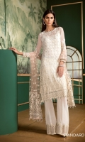 Embroidered Front Embroidered Back Plain Side Panel Embroidered Sleeves Embroidered Sleeves Patch Embroidered Front and Back Patch Embroidered Net Dupatta Embroidered Trousers Patch Silk Trousers
