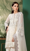 Embroidered Front Panel Embroidered Side Panel Embroidered Front Panel Patch Digital Print Silk Back Embroidered Sleeves Embroidered Sleeves Patch Embroidered Front Patch Embroidered Chiffon Dupatta Silk Trousers