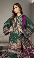 Embroidered Jacquard Lawn Front Embroidered Jacquard Lawn Sleeve Digital Printed Lawn Back Embroidered Sleeves Patch Embroidered Front Patch Dyed Cambric Lawn Trousers Digital Printed Silk Dupatta