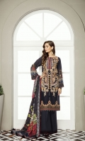 Embroidered Digital Printed Lawn Front  Digital Printed Lawn Back & Sleeves Embroidered Front Patch Dyed Cambric Lawn Trousers Digital Printed Silk Dupatta