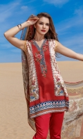 Digital Printed Lawn Shirt  Embroidered Neckline Patch Embroidered Trousers Patch Dyed Cambric Lawn Trousers Digital Printed Chiffon Dupatta