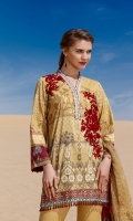Digital Printed Lawn Shirt  Embroidered Neckline Patch Embroidered Front Patch Dyed Cambric Lawn Trousers Digital Printed Chiffon Dupatta