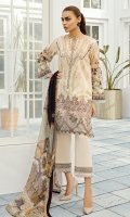 DIGITAL PRINTED LAWN SHIRT  EMBROIDERED FRONT PATCH  EMBROIDERED TROUSERS PATCH  DYED CAMBRIC LAWN TROUSERS  DIGITAL PRINTED CHIFFON DUPATTA