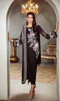 Embroidered Front Embroidered Sleeves Embroidered Sleeves Patch Embroidered Front and Back Patch Printed Silk Back Silk Trousers Embroidered Chiffon Dupatta