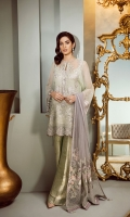 Embroidered Front Embroidered Sleeves Embroidered Sleeves Patch Embroidered Front and Back Patch Plain Back Jamavaar Trousers Embroidered Net Dupatta