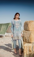 Digital Printed Khaddar Shirt Digital Printed Twill Shawl Dyed Khaddar Trousers Embroidered Neckline Patch Embroidered Front Patch