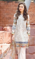 Digital Printed Lawn Shirt (With Embroidered Front) 3.15 Meter Embroidered Front Bottom Patch 1.00 Meter Digital Printed Pure Chiffon Dupatta 2.50 Meter Dyed Cambric Lawn Trousers 2.50 Meter Embroidered Trousers Patch 1.00 Meter
