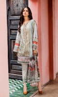 Digital Printed Lawn Shirt  Embroidered Neckline Patch  Embroidered Front Patch (2)  Digital Printed Cambric Lawn Trousers  Digital Printed Chiffon Dupatta