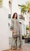 Digital Printed Lawn Shirt  Embroidered Neckline Patches (3)  Embroidered Front Patch  Embroidered Trousers Patch  Dyed Cambric Lawn Trousers  Digital Printed Chiffon Dupatta