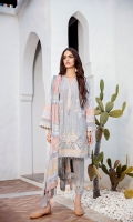 Digital Printed Lawn Shirt  Embroidered Neckline Patch  Embroidered Front Patches (4)  Embroidered Trousers Patches (3)  Dyed Cambric Lawn Trousers  Digital Printed Chiffon Dupatta