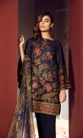 Embroidered Swiss Lawn Front Embroidered Swiss Lawn Side Panel Embroidered Swiss Lawn Sleeves Plain Swiss Lawn Back Embroidered Front & Back Patch Dyed Cambric Lawn Trousers Digital Print Chiffon Dupatta