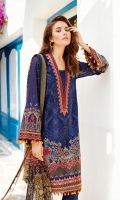 EMBROIDERED SWISS LAWN FRONT PLAIN SWISS LAWN BACK EMBROIDERED SWISS LAWN SLEEVES EMBROIDERED SLEEVES PATCH EMBROIDERED NECKLINE PATCH EMBROIDERED FRONT + BACK PATCH DYED CAMBRIC LAWN TROUSERS DIGITAL PRINTED CHIFFON DUPATTA