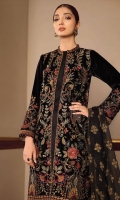 Embroidered Velvet Unstitched 3 Piece Suit