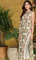 Printed Lawn Shirt: 3 Meter Embroidered: 1 Meter Dyed Pant: 2.5 Meter