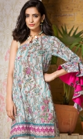 Printed Lawn Shirt: 3 Meter Embroidered Neckline: 2 Motifs