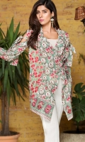 Printed Lawn Shirt: 3 Meter One Embroidered Motif