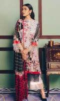 Printed Lawn Shirt: 2.9 M Printed Lawn Dupatta: 2.5 M Embroidered Neckline (on fabric)