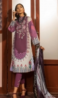 Printed Shirt: 2.9 M Dyed Pants: 2.5 M Printed Silk Dupatta: 2.5 M Embroidered Neckline: 1 Pc  Embroidered Pants Motifs: 2 Pc