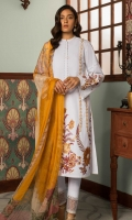 Embroidered Front: 1 M Dyed Back & Sleeves: 1.7 M Dyed Pants: 2.5 M Printed Chiffon Dupatta: 2.5 M Embroidered Sleeves Motifs: 2 Pc