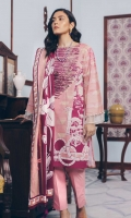 Printed Lawn Shirt: 2.9 M Printed Lawn Dupatta: 2.5 M Embroidery Neckline (On Fabric)