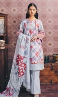 Printed Lawn Shirt: 2.9 M Printed Lawn Dupatta: 2.5 M Embroidered Front Motif: 1 Pc (On Fabric)