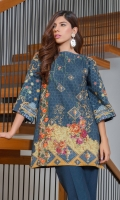 Khaddar Front Printed: 1.1 M Khaddar Back Printed: 1.1 M Khaddar Sleeves Printed: 0.6 M Khaddar Dyed Pants: 2.5 M Embroidered Neckline Patti: 0.8 M