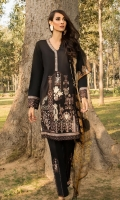 Embroidered Front: 1 M Dyed Back: 1 M Dyed Sleeves: 0.6 M Dyed Pants: 2.5 M Printed Chiffon Dupatta: 2.5 M Embroidered Pants Motifs: 2 Pc Embroidered Front border: 0.6 M Embroidered Neckline Patti: 0.8 M Embroidered Sleeves Border: 0.8 M