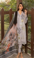 Embroidered Front: 1 M Dyed Back: 1 M Dyed Sleeves: 0.6 M Dyed Pants: 2.5 M Printed Chiffon Dupatta: 2.5 M Embroidered Pants Motifs: 2 Pc Embroidered Sleeves Motifs: 2 Pc Embroidered Front Border: 0.6 M
