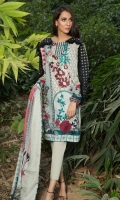 Printed Shirt: 2.9 M Lawn Printed Dupatta: 2.5 M Embroidered Neckline On Fabric: 1 Pc