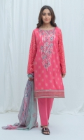 2.9 Mtrs Printed Lawn Shirt With Embroidery 0.7 Mtrs Embroidered Border 2.5 Mtrs Printed Blended Chiffon Dupatta