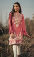 Embroidered Front: 1.1 M Dyed Back & Sleeves: 1.7 M Embroidered Neckline: 1 Pc
