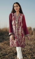 Embroidered Front: 1.1 M Dyed Back & Sleeves: 1.7 M Embroidered Neckline Patti: 0.8 M Embroidered sleeves Border: 0.8 M