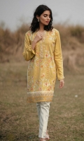 Embroidered Front: 1.1 M Dyed Back & Sleeves: 1.7 M Embroidered NecklinePatti: 0.8 M Embroidered Front Border: 0.6 M