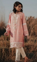 Embroidered Front: 1.1 M Dyed Back & Sleeves: 1.7 M Embroidered Neckline: 1 Pc  Embroidered Front Border: 0.6 M