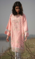 Embroidered Front: 1.1 M Dyed Back &Sleeves: 1.7 M Embroidered Neckline: 1 Pc Embroidered Front Border: 0.6 M