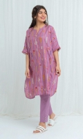 Embroidered Jacquard Shirt: 2.5 M Dyed Pants: 2.5 M