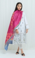Printed Lawn Front with Embroidery: 1.14 M Printed Lawn Shirt: 1.14 M Printed Lawn Sleeves: 0.5 M Printed Blended Tissue Dupatta: 2.5 M