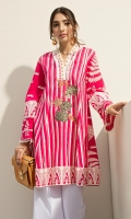 Printed Shirt: 2.5 M Embroidered Fronts Motifs: 1 Pc
