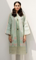 Embroidered Shirt: 2.5 M Embroidered Front Border: 0.6 M Embroidered Sleeves Border: 0.8 M