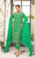Embroidered Swiss Lawn Crinkle Dupatta Plain Trouser