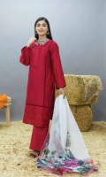 Embroidered Lawn Shirt Embroidered & Printed Chiffon Dupatta Plain Trouser
