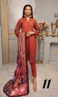 Slub Peach Leather Printed Wool Shawl Plain Trouser