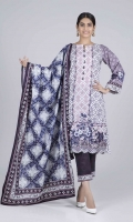 Digital Printed Cambric Shirt: 3.00 M  Digital Printed Cambric Dupatta: 2.50 M  Dyed Cambric Trouser: 2.00 M