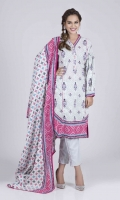 Printed Cambric Shirt: 3.00 M  Printed Cambric Dupatta: 2.50 M  Dyed Cambric Trouser: 2.00 M