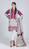 Digital Printed Slub Shirt: 3.00 M  Digital Printed Cambric Dupatta: 2.50 M  Embroidery Neckline Border: 1.00 M