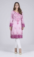 Printed Embroidered Slub Shirt: 3.00 M