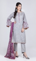 Digital Printed Lawn Shirt: 3.00 M  Printed Cambric Trouser: 2.00 M  Digital Printed Lawn Dupatta: 2.50 M