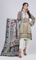 Digital Printed Lawn Shirt: 3.00 M  Digital Printed Lawn Dupatta: 2.50 M